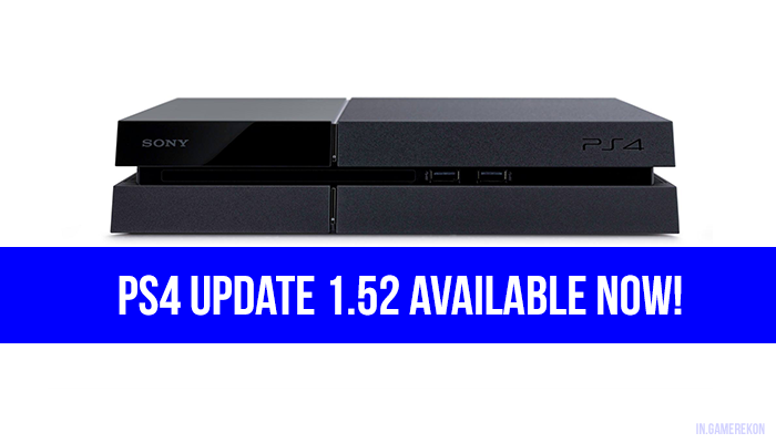 PS4 UPDATE 152 GAME REKON INDIA