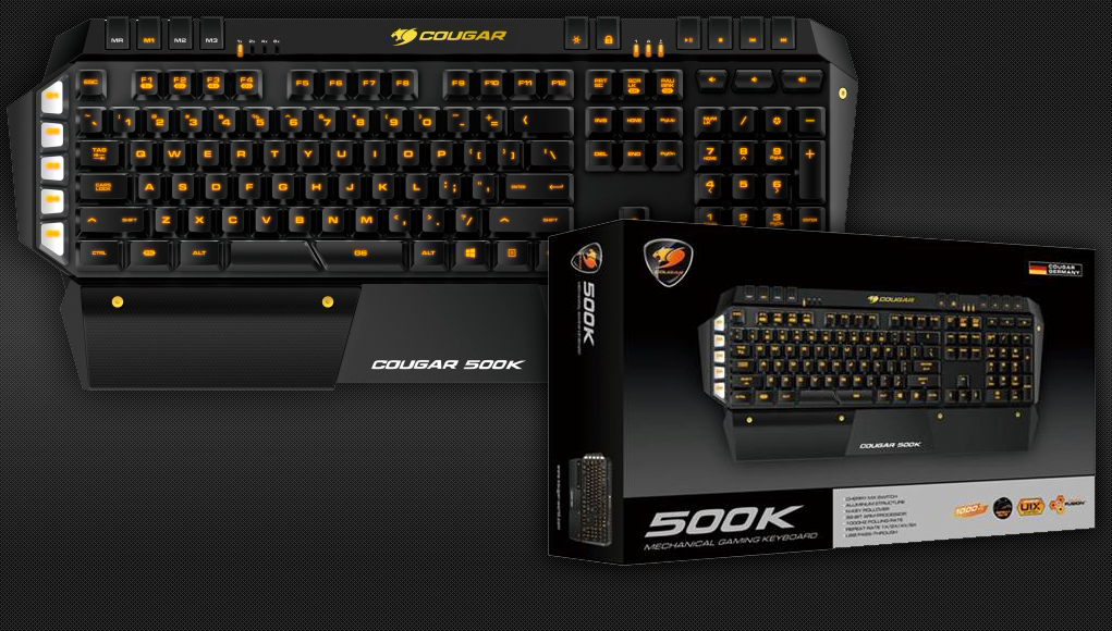 The 500K features a membrane design with full anti-ghosting – a rarity among gaming keyboards