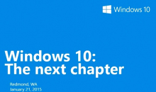 Windows 10 | January Announcement: Consumer Preview