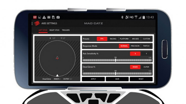 Mad Catz provides a companion app with the controller, that lets users tweak settings for specific apps and games