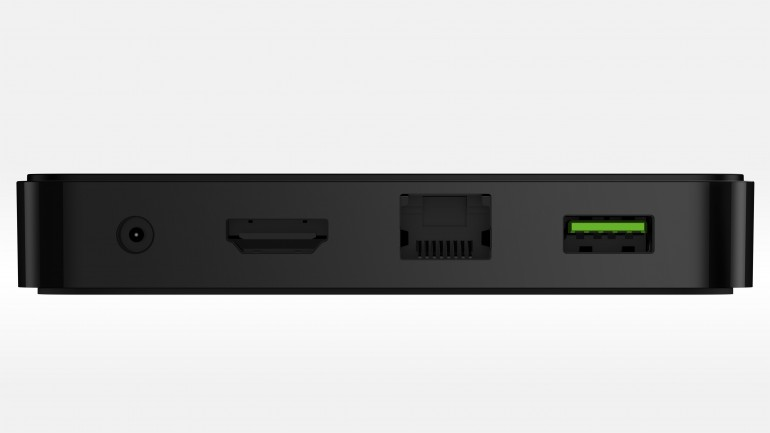 In terms of physical ports, there's a Gigabit Ethernet port, a single USB 3.0 and HDMI-out