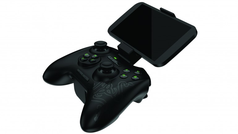 The controller can be paired with a purpose built clip for more comfortable gaming on a smartphone